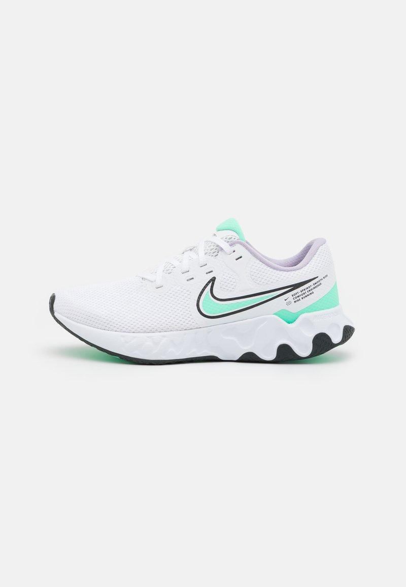 Nike Performance - RENEW RIDE 2 - Neutral running shoes - white/green glow/dark smoke grey/infinite lilac/violet shock