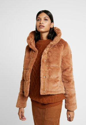 ULTRA CROPPED PUFFER - Winter jacket - brown
