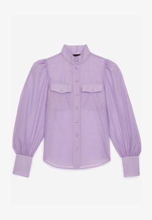 Button-down blouse - violet