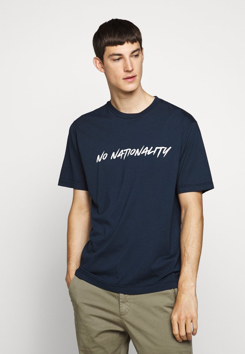NN07 - DYLAN TEE  - T-shirt imprimé - navy blue