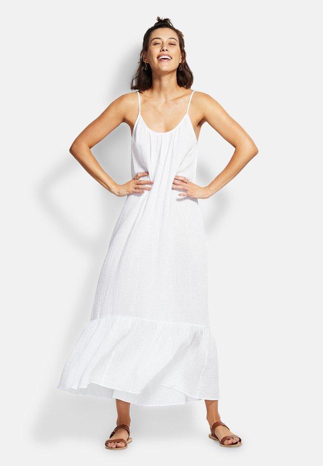 DOUBLE CLOTH MIDI SLIP - Strandaccessoire - white