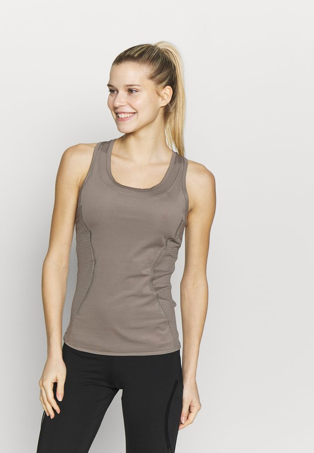 ESSENTIALS TANK - Koszulka sportowa - simple brown