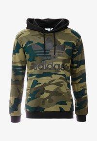 adidas Originals - CAMO TREFOIL GRAPHIC HODDIE SWEAT - Felpa con cappuccio - black/multicolor - 4