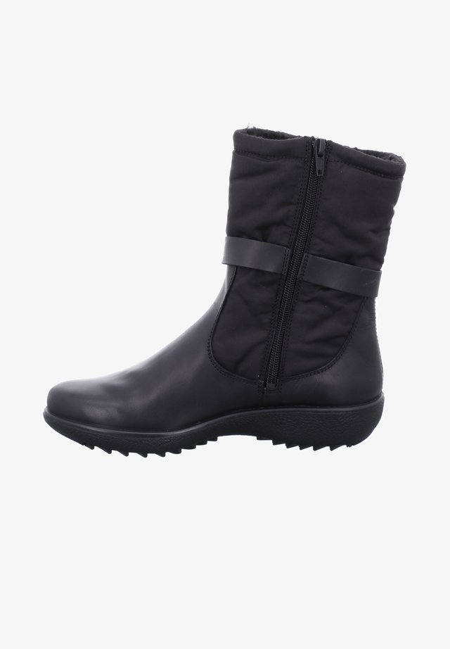 Cowboy/biker ankle boot - schwarz