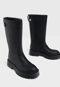 Bershka - Wedge boots - black - 2
