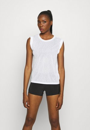 TISSUE ROLL SLEEVE TANK - Camiseta básica - optic white