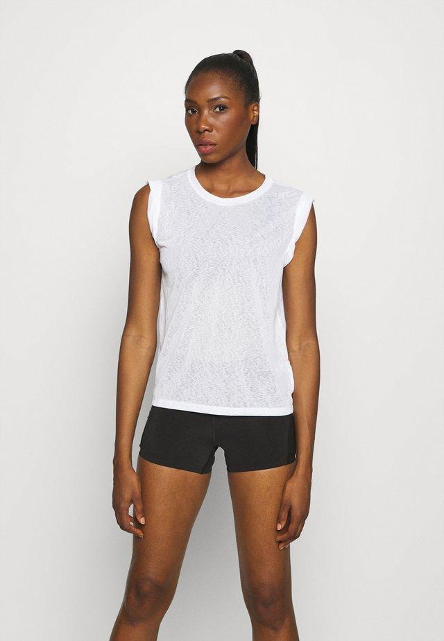 TISSUE ROLL SLEEVE TANK - T-shirt - bas - optic white