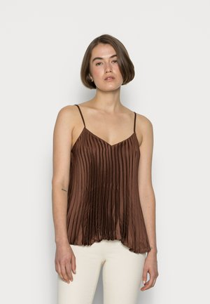 PLEATED CAMI - Top - brown