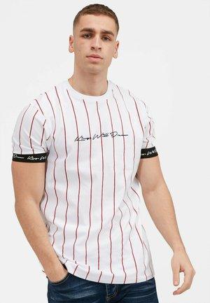 CLIFTON - T-shirt med print - white / red