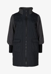 Zizzi - QUILTED TEDDY  WITH POCKETS - Down coat - black comb - 5