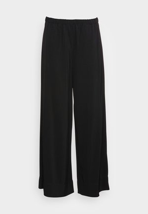 PANTS FLUENT WIDE LEG SEAM POCKETS - Trousers - black