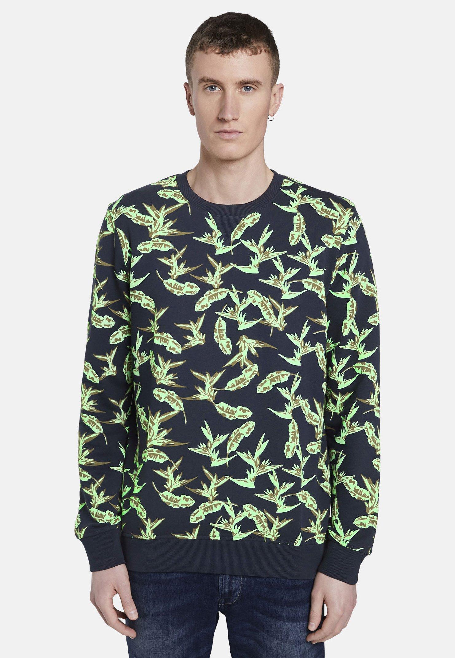 Homme STRICK & SWEATSHIRTS SWEATSHIRT MIT TROPISCHEM PRINT - Sweatshirt