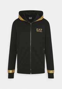 EA7 Emporio Armani - veste en sweat zippée - black gold - 0