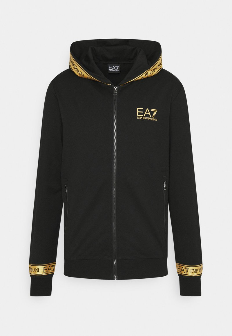 EA7 Emporio Armani - veste en sweat zippée - black gold