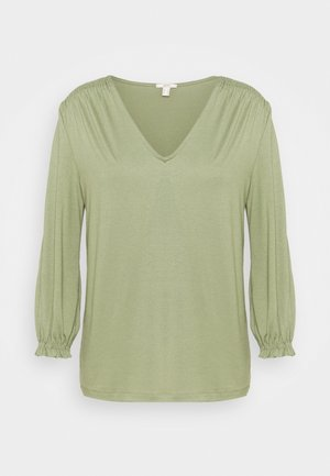 SMOCK TEE - Long sleeved top - light khaki