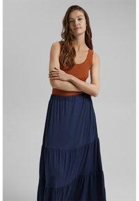 Esprit - A-line skirt - navy - 5