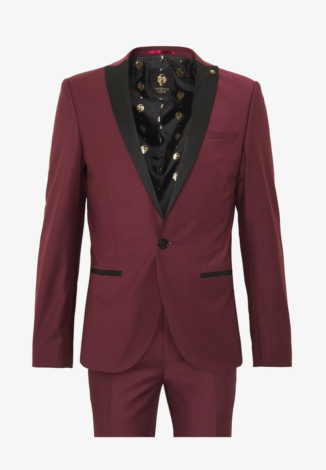 KINGDON SUIT - Suit - bordeaux