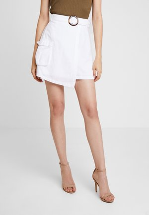 JULIA WIENIAWA OVERLAPPED ASYMMETRIC SKIRT - Wrap skirt - white