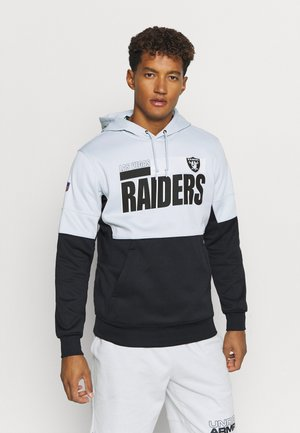 NFL OAKLAND RAIDERS TEAM NAME LOCKUP THERMA HOODIE - Club wear - field silver/black