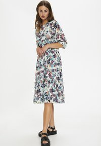 Soaked in Luxury - Day dress - vivid floral print white - 1