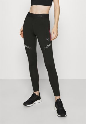 RUNNER REGULAR RISE FULL - Tights - black/burgundy
