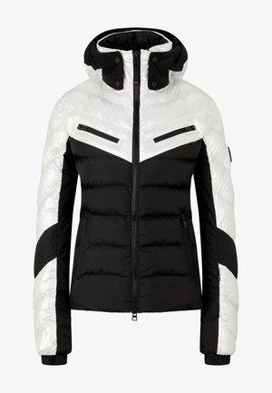 FARINA - Ski jacket - schwarz/perl-weiß