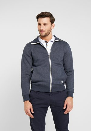 Mikina na zip - washed navy melange/blue
