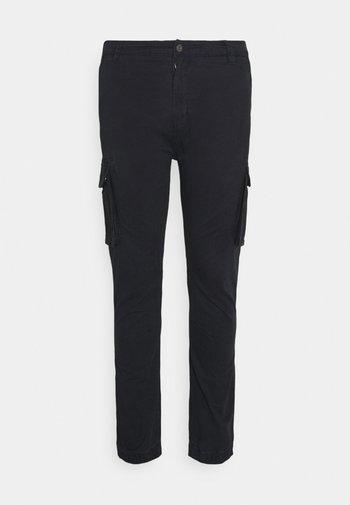 PANTS CROPED - Cargo trousers - dusty black