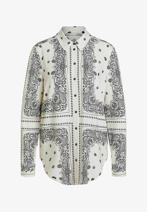 Button-down blouse - light stone grey
