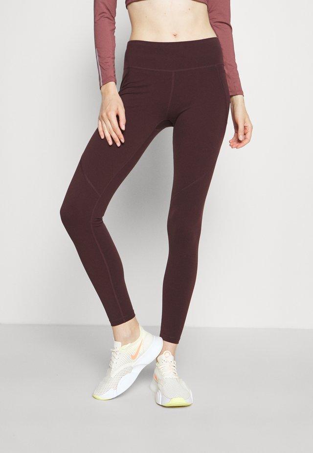 POWER WORKOUT LEGGINGS - Collants - black cherry purple