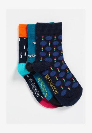 3-PACK - Socks - mottled teal/ mottled dark blue