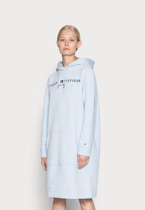 REGULAR HILFIGER HOODIE DRESS - Day dress - breezy blue