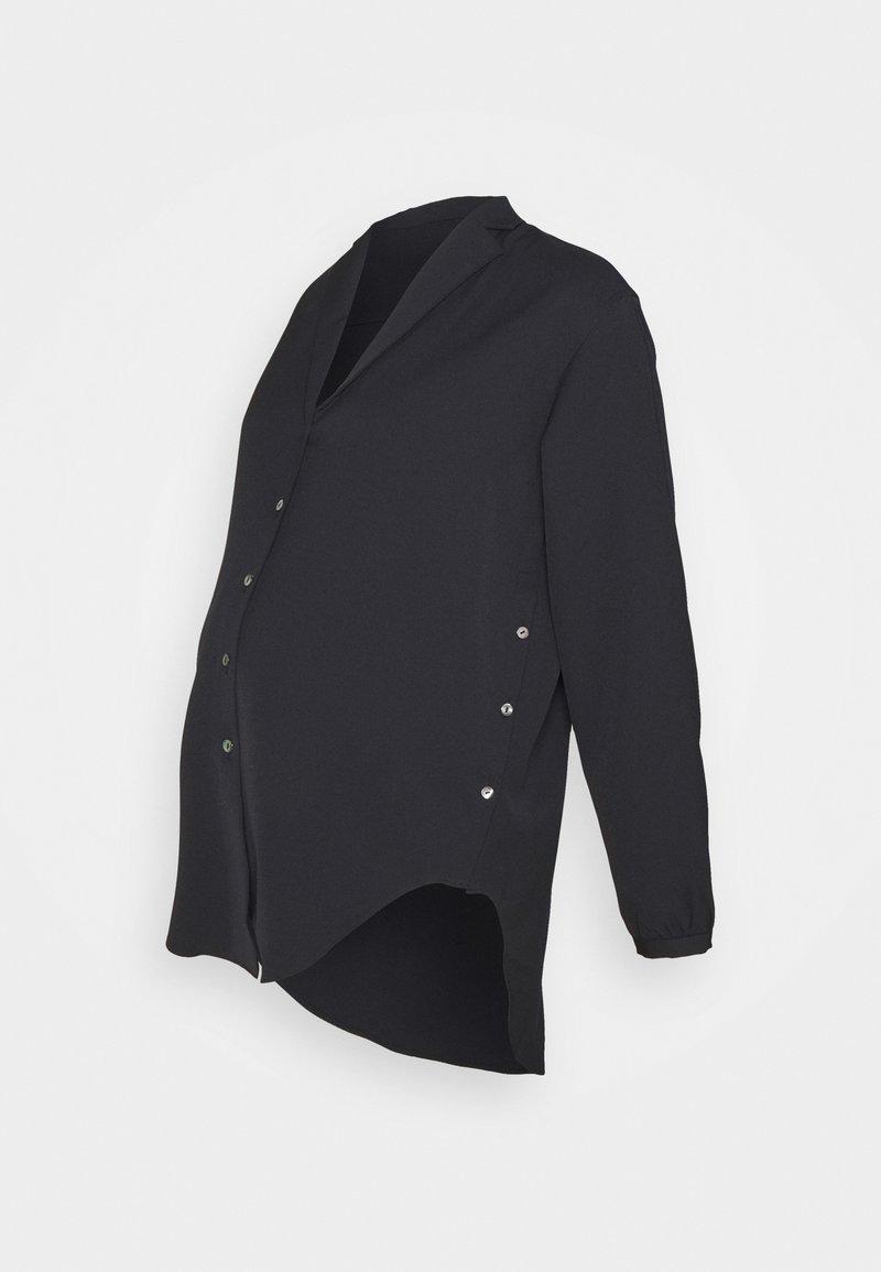 GLOWE - SIDE HUSTLE NURSING - Button-down blouse - black