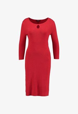 DRESS SHORT - Strikket kjole - red