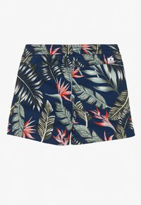 Jack & Jones Junior - JJIFREE JOGGER SHORTS FLOWER - Shorts - navy blazer - 1