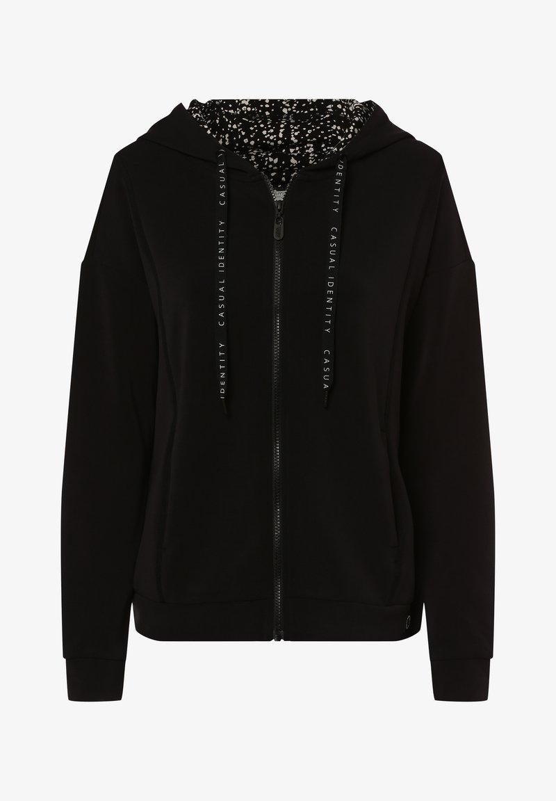 comma - Zip-up sweatshirt - schwarz