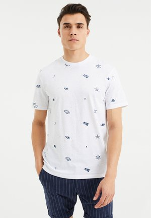 MET DESSIN - T-Shirt print - white