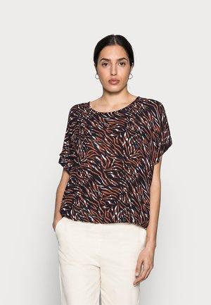 ZABIA BLOUSE - Print T-shirt - blue/brown