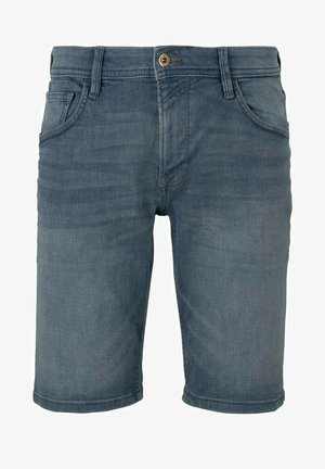 Denim shorts - mid stone blue grey denim