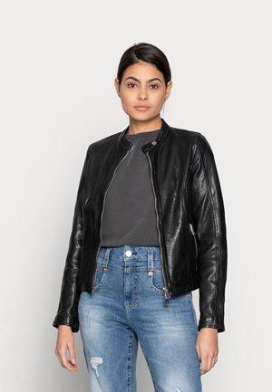FAST TULA - Leather jacket - black