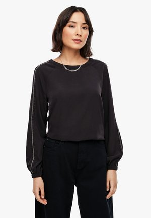 MIT TAPE-DETAIL - Blouse - black