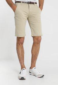 Lindbergh - CLASSIC  BELT - Shorts - sand - 0