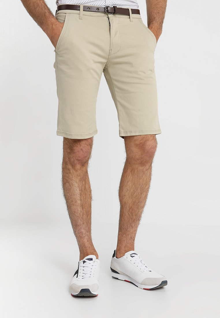 Lindbergh - CLASSIC  BELT - Shorts - sand