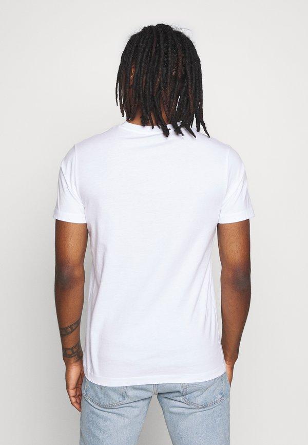 Diesel JAKE - T-shirt z nadrukiem - white/biały Odzież Męska WMZR