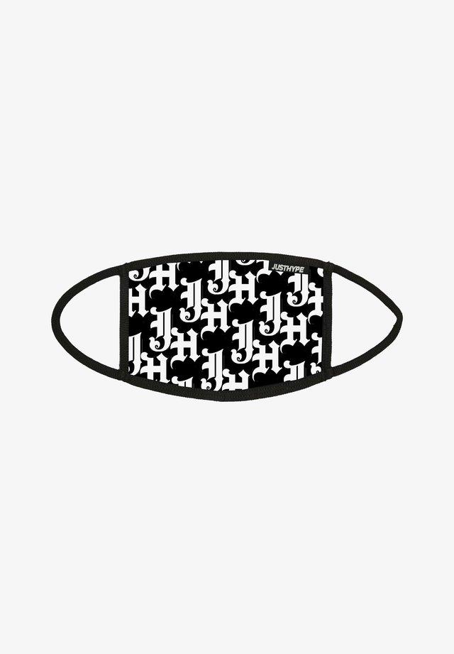 Masque en tissu - black/white