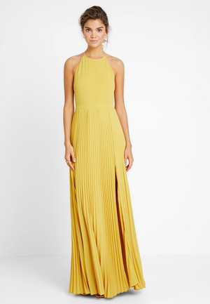 PLEATED GOWN - Vestido de fiesta - yellow