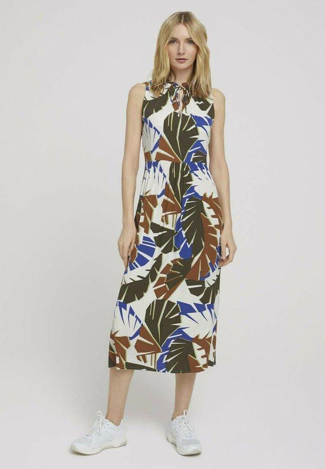 Sukienka letnia - multicolor botanical design