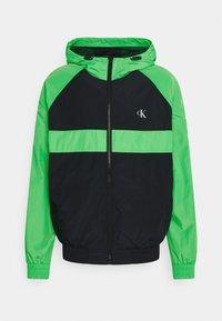 Calvin Klein Jeans - BLOCKED ZIP THROUGH JACKET - Summer jacket - andean toucan/black - 0
