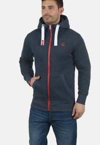 Solid - BENN  - Zip-up hoodie - blue melange - 0