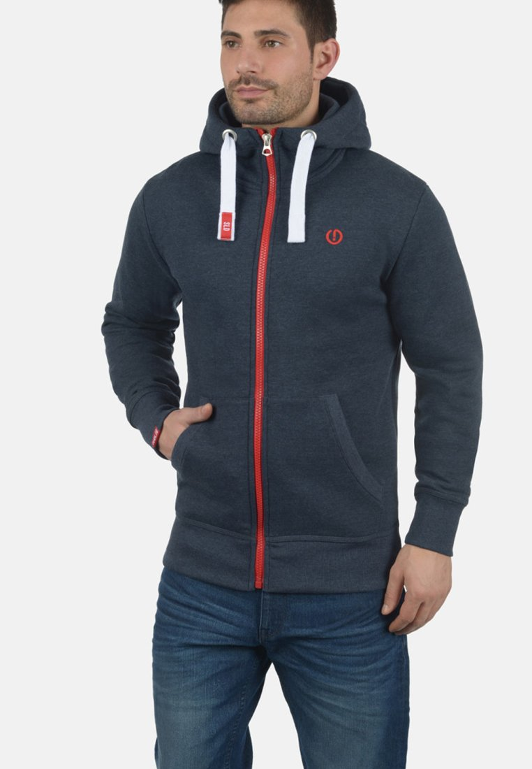 Solid - BENN  - Zip-up hoodie - blue melange